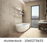 Modern Limestone Bathroom ...