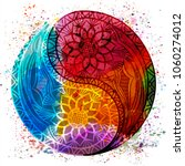 yin yang symbol. vector... | Shutterstock .eps vector #1060274012