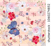 seamless summer pattern with... | Shutterstock .eps vector #1060274852