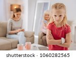 emotional child. unhappy... | Shutterstock . vector #1060282565