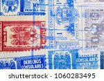 antique spanish stamps with... | Shutterstock . vector #1060283495