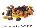 mix color raisin on white... | Shutterstock . vector #106029335