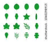 leaf icons set. vector... | Shutterstock .eps vector #1060298915