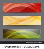 set of colorful horizontal... | Shutterstock .eps vector #106029896