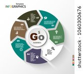 infographic  geometric graph ... | Shutterstock .eps vector #1060300676
