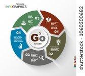 infographic  geometric graph ... | Shutterstock .eps vector #1060300682