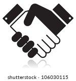 handshake glossy black icon | Shutterstock .eps vector #106030115