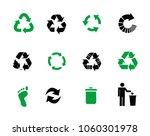 vector recycle signs | Shutterstock .eps vector #1060301978