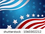 usa flag in style vector | Shutterstock .eps vector #1060302212