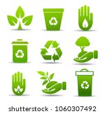 vector set of environmental  ... | Shutterstock .eps vector #1060307492