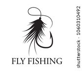 graphic fly fishing  vector | Shutterstock .eps vector #1060310492