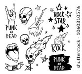 set of rock and roll sign. hand ... | Shutterstock .eps vector #1060310576
