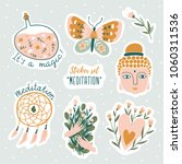 set of vector cute doodles... | Shutterstock .eps vector #1060311536