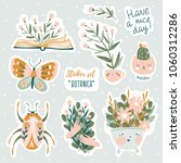 set of vector cute doodles... | Shutterstock .eps vector #1060312286