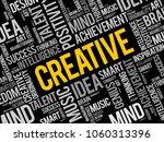 creative word cloud  creative...   Shutterstock .eps vector #1060313396