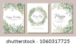 set of card with beautiful... | Shutterstock .eps vector #1060317725