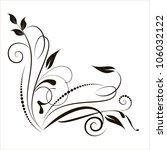 decorative branch in vintage... | Shutterstock .eps vector #106032122