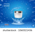 cosmetic moisturizing cream box ... | Shutterstock .eps vector #1060321436