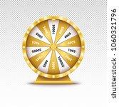 realistic 3d spin golden... | Shutterstock .eps vector #1060321796