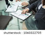 business team discussing... | Shutterstock . vector #1060322705