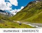view into the jamtal on a sunny ... | Shutterstock . vector #1060324172