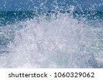 blue ocean sea water wave with... | Shutterstock . vector #1060329062