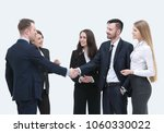 welcome and handshake business... | Shutterstock . vector #1060330022