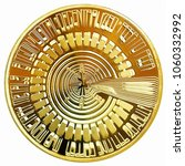 bitcoin cryptocurrency concept  ... | Shutterstock . vector #1060332992