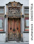 ancient  decorated door in... | Shutterstock . vector #1060337816