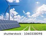 new energy  solar energy and... | Shutterstock . vector #1060338098