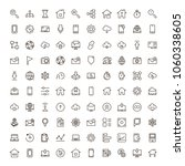 web icon set. collection of... | Shutterstock .eps vector #1060338605