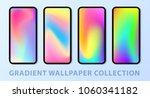 phone gradient wallpaper set.... | Shutterstock .eps vector #1060341182