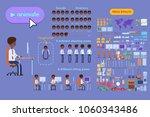 animation set black businessman ... | Shutterstock .eps vector #1060343486