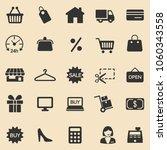 shopping  icons set. vector | Shutterstock .eps vector #1060343558