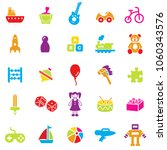 toys color icon set.vector. | Shutterstock .eps vector #1060343576