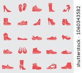 shoes  icons set. vector | Shutterstock .eps vector #1060343582