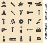 worker tool black icons set... | Shutterstock .eps vector #1060343636