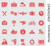 vacation line icons set.vector | Shutterstock .eps vector #1060343642