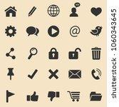 web  icons set.vector | Shutterstock .eps vector #1060343645