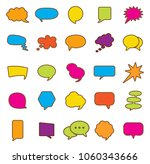 speech bubble icon set. | Shutterstock .eps vector #1060343666