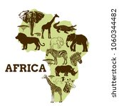 african animals collection... | Shutterstock .eps vector #1060344482