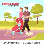 young family summer walking in...   Shutterstock .eps vector #1060346096