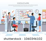 colleagues schedule and... | Shutterstock .eps vector #1060346102