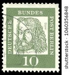 germany   circa 1961  stamp... | Shutterstock . vector #1060356848