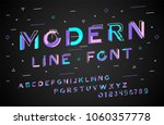 stylish modern abstract italic... | Shutterstock .eps vector #1060357778