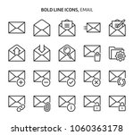 email  bold line icons. the... | Shutterstock .eps vector #1060363178