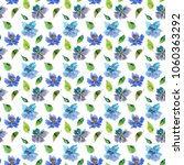 seamless floral background.... | Shutterstock . vector #1060363292