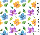 seamless floral background.... | Shutterstock . vector #1060364612
