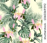 beach cheerful seamless pattern ... | Shutterstock .eps vector #1060369592