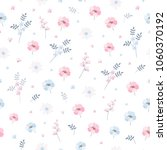 delicate ditsy floral pattern.... | Shutterstock .eps vector #1060370192